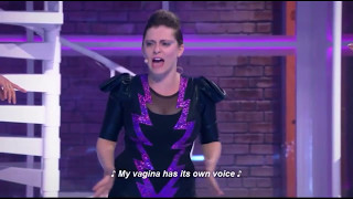 This biped that identifies as a lady has got a vagina... With a voice.