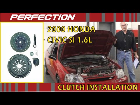 2000 Honda Civic Si 1 6l Clutch Install Youtube