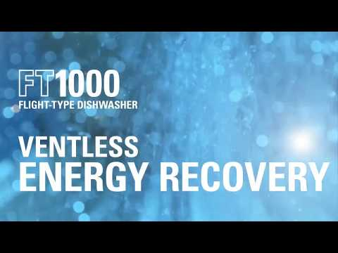 Hobart's FT1000 Flight-Type Dishwasher | Ventless Energy Recovery