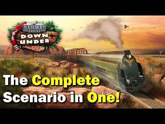 Start to Finish the complete Down Under DLC for Railway Empire