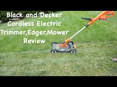 Black & Decker MTC220 12 Inch Lithium Cordless 3 in 1 Trimmer Edger and Mower, 20 volt Review