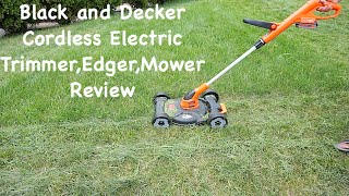 Black & Decker MTC220 12 Inch Lithium Cordless 3 in 1 Trimmer Edger and Mower, 20 volt Review thumbnail