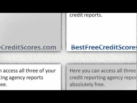 Free credit report and credit score without having to pay anything