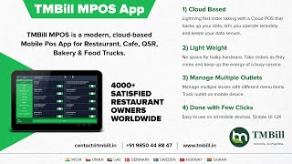 Contact us for web panel & more details whats app or call on +91 9850448847 www.tmbill.in tmbill@techmainstay.com tmbill mpos is a modern, cloud-based...