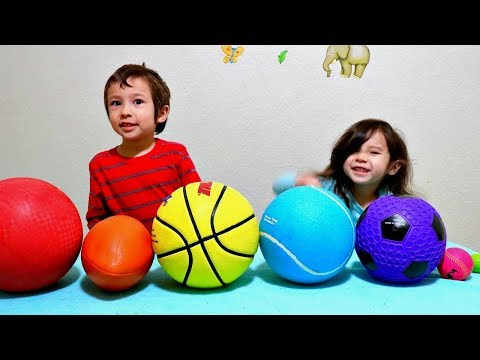 Learn Colors and Different Sport Ball Names with Colored Basketball for Toddlers and Children