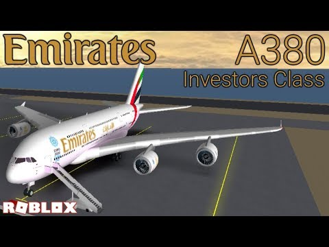 Roblox Airline Review: Emirates Airlines A380 Investor Class