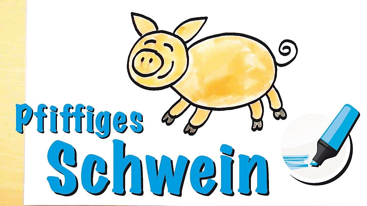 Schwein zeichnen lernen: Das Intelligente Tier - How to draw a Pig ...