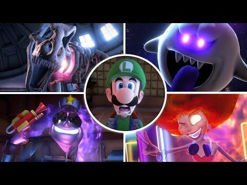 Luigi's Mansion 3 - All Bosses With Cutscenes And Ending