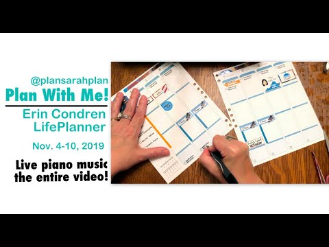 Plan With Me! | With Tons Of Live Piano! | Nov. 4-10