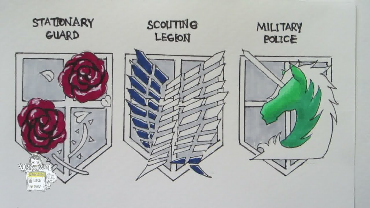 How To Draw Military Crests From Attack On Titan Youtube