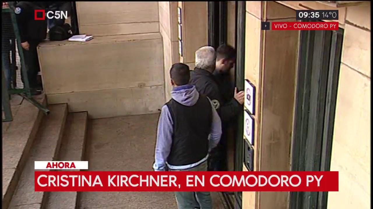 Causa de los cuadernos: Cristina Kirchner llegó a los tribunales de Comodoro Py