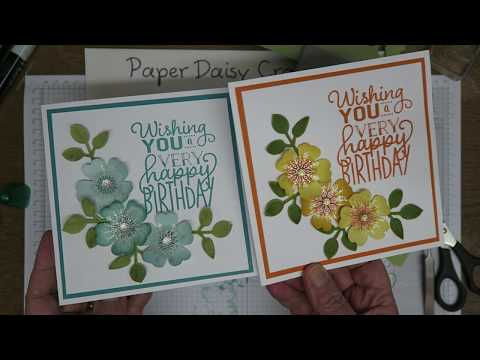 Pretty flower shop card using Stampin blends from Stampin' Up!