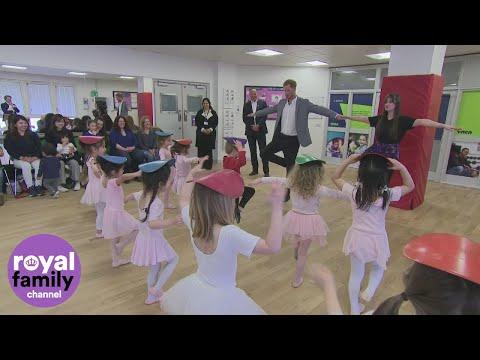 Prince Harry Visits Ballet Class South Ealing April 2019 | POPSUGAR Celebrity UK