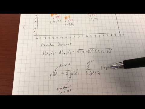 Semivariogram Example Calculation
