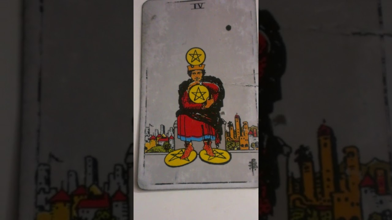 The Four of Pentacles as Feelings in a Love Reading