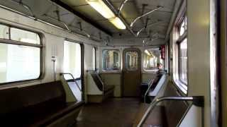 поездка в вагоне 81-714 по Филёвской линии.Фили - Ал.сад