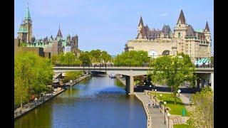 HISTORIC RIDEAU CANAL IN OTTAWA SUMMER TIME, CANADA