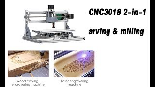 CNC3018 DIY CNC Router Kit 2-in-1 Mini Laser Engraving Machine 500mW Laser Head