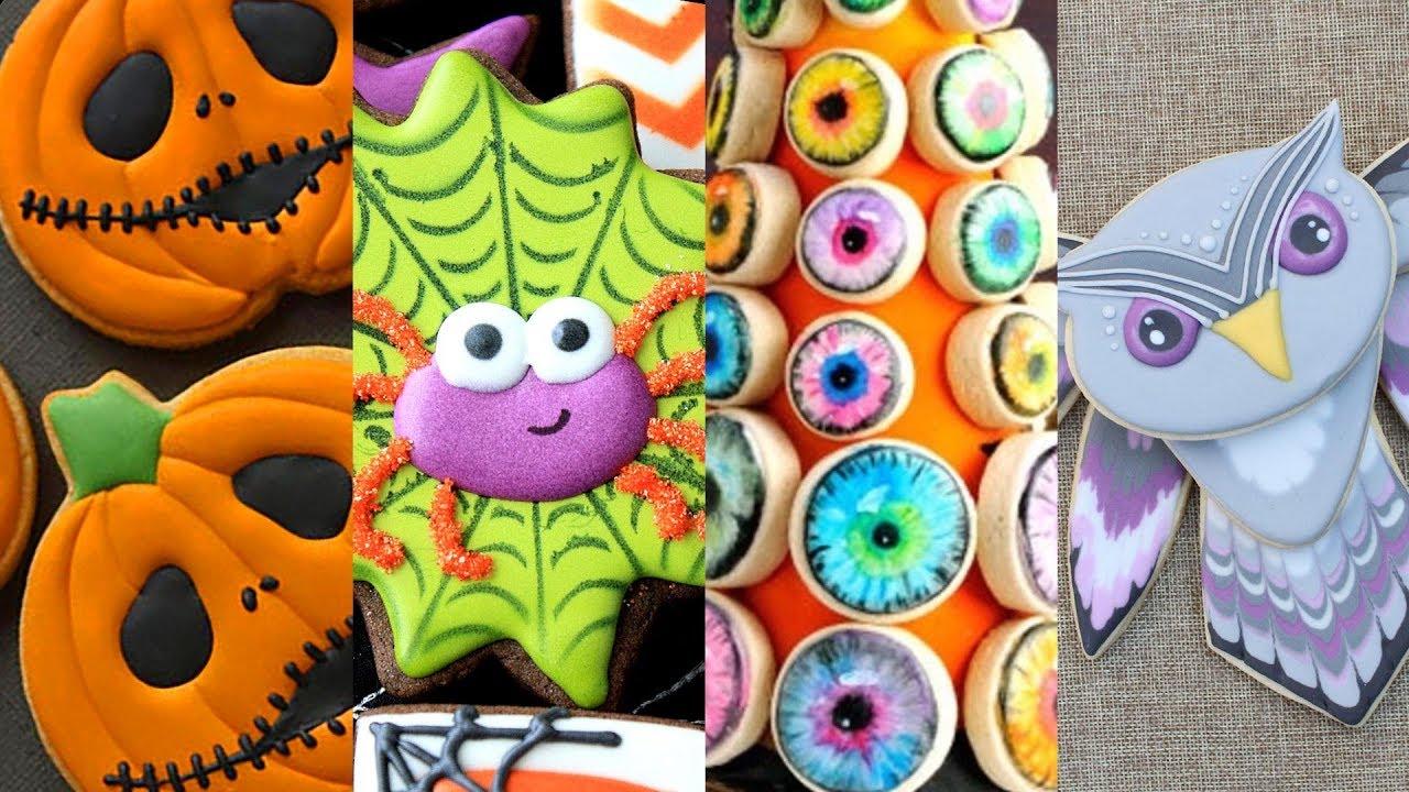 best halloween cookies! cookie decorating video compilation - youtube