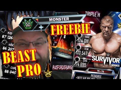 WWE SUPERCARD Grinding | es läuft | Titan Pro | Beast Pro | Monster Freebie und 85k Ladder | deutsch