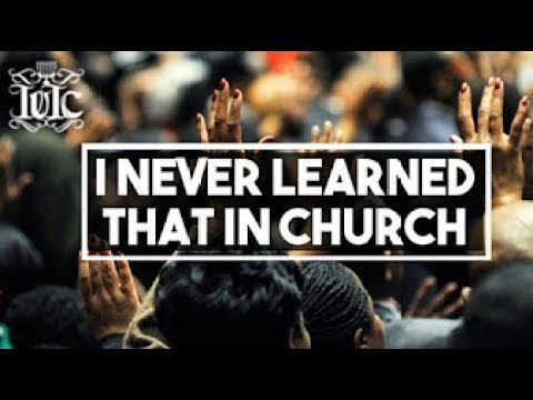 The Israelites I Never Learned that in Church