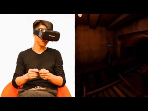 play games with FeiFan 3D VR virtual reality headset glasses review with bluetooth remote
