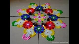 Best rangoli for diwali | Easy rangoli designs by Poonam Borkar