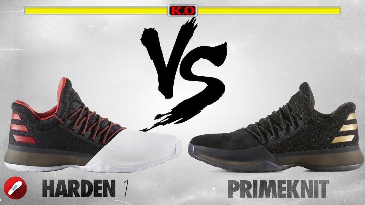 49cc592ff54f8a Adidas Harden Vol. 1 vs Harden Vol. 1 PRIMEKNIT! - YouTube