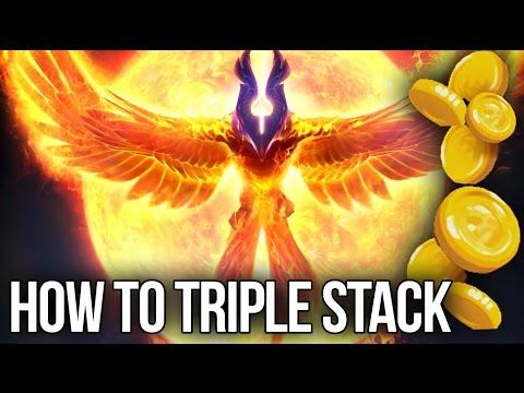 7.06 - How to Speedfarm your Carry - Phoenix Triple Stack Multi-Farm Dota 2