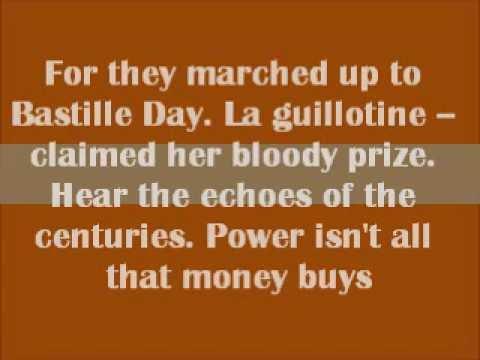 Bastille Day - Rush - Lyrics