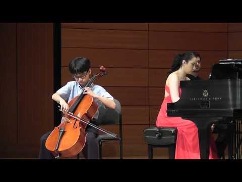 Edmund, age 10, The swan (Le cygne), cello, Saint-Saëns
