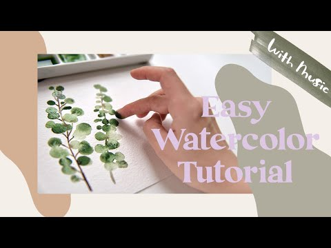 i tried finger painting for the first time (easy watercolor tutorial)