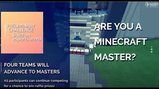 2020 Minecraft Masters Global Competition offered by NASEF
