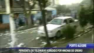Pelea entre hinchas de Grêmio y Boca