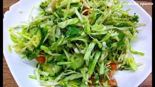 Весенний салат с чудо-заправкой - вкусный, полезный