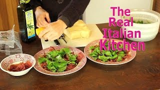 Easy Italian Appetizer Recipe: Bresaola Arugula And Parmigiano