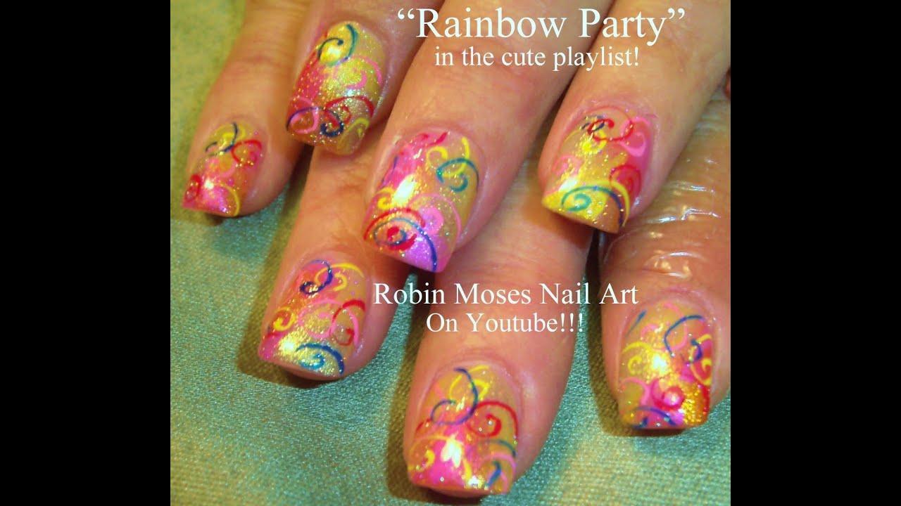 Birthday Cake Nail Design: Birthday Nails!