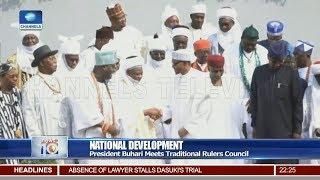President Buhari Meets Traditional Rulers Council