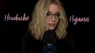 ASMR Headache Hypnosis 🖤 Relaxing Relief