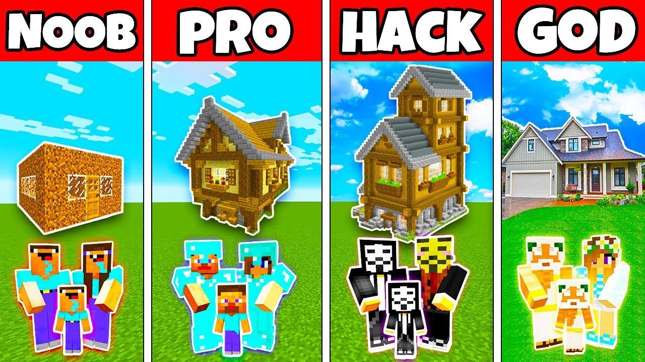 Minecraft Family Classic House Build Challenge Noob Vs