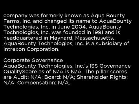 AQB AquaBounty Technologies, Inc  AQB buy or sell Buffett read basic