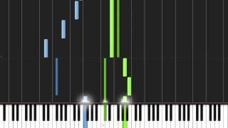 Elfen Lied - Lilium easy version PIANO TUTORIAL+SHEET MUSIC+MIDI+SYNTHESIA GAME.mp4