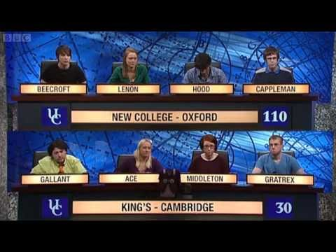 University Challenge S42E28 - New College, Oxford vs King's, Cambridge