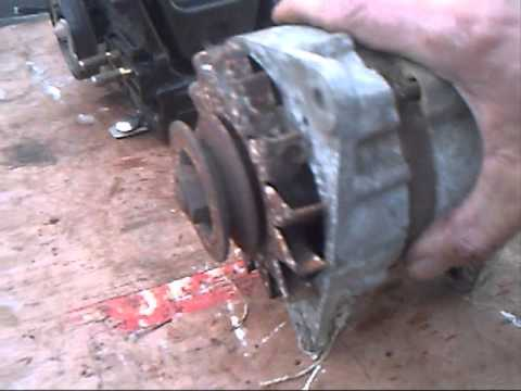 Making a Chain Saw,12 volt ford dc Generator for boats battery, Part 1 petethewrist