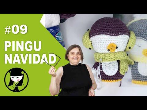 Pinguino navideño amigurumi 9 cosas navideñas a crochet