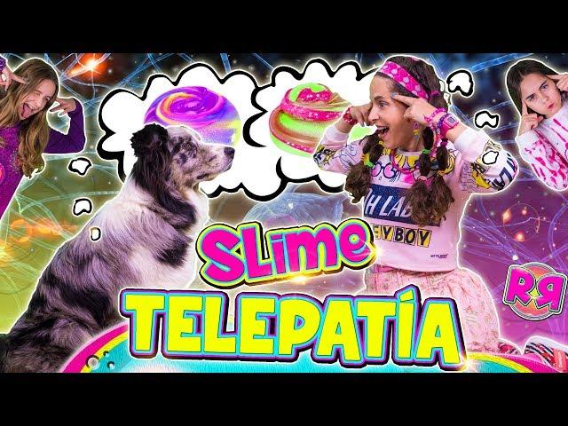 SLIME por TELEPATÍA con mi PERRO 🐶 Twin TELEPATHY SLIME challenge 🤯 Haciendo SLIME telepáticamente