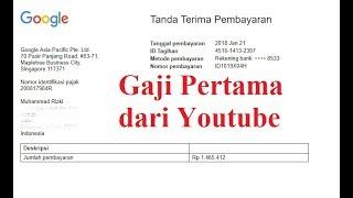 Gaji Pertama Dari Youtube (Google Adsense) Transfer Via Bank BRI