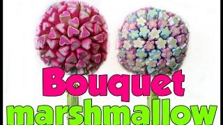 Como fazer um bouquet de marshmallow para damas e noivas