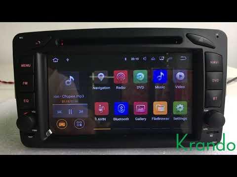 krando android 7.1 For Mercedes Benz W209 W203 W168 W463 Viano W639 Vito Vaneo E-W210