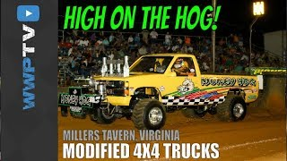 THE BADDEST NATIONAL MOD 4X4 TRUCKS pulling at the SOUTHERN SHOWDOWN Millers Tavern September 2017